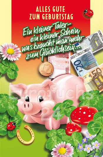 50 Geburtstagskarten Kleeblatt Glück Grußkarten Karten Hüllen 510-2625 A