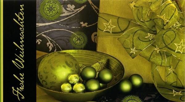Weihnachtskarten Grußkarten Schale mit Weihnachtskugeln Frohe Weihnachten plano bedruckbar 230 g/m² inklusive Umschlägen Mayspies Prestige 7029 (20 Stück)
