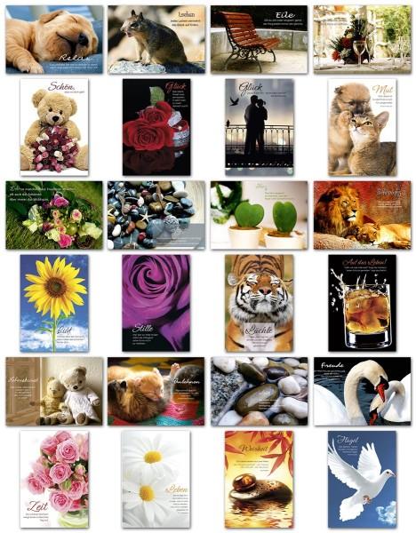 Grußkarten Grußkarte Impressions Sinnsprüche Glückwunschkarten Hüllen IMP S1-4 (24 Stück)