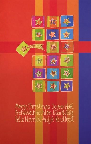 Weihnachtskarten Grußkarten Moderne Sterne mit Goldfolie plano vorgefalzt bedruckbar 250 g/m² inklusive Umschlägen mit Seidenfutter Mayspies 7760 (20 Stück)