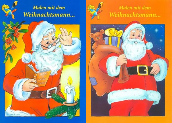 Malbuch Weihnachten, 2 Motive, DIN A4 , 32 Seiten (25 Stück)
