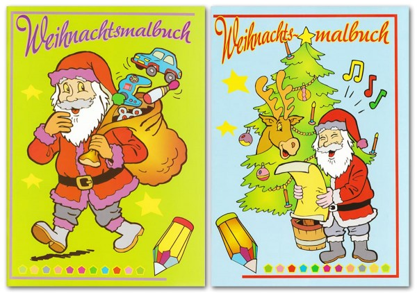 Malbuch Weihnachtsmotive A4 48 Seiten Weihnachten 22-8430 (1 Stück)