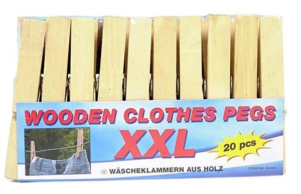 XXL Wäscheklammern Holz Wäscheklammer Klammer Wäsche Adventskalender Basteln Deko (300 Stück)