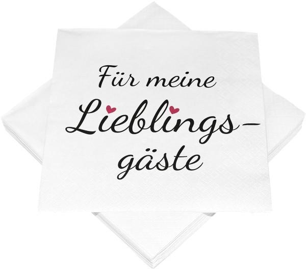 Servietten Serviette Für meine Lieblingsgäste 33 x 33cm Geburtstag Hochzeit