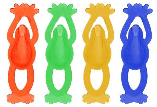 Schleimfiguren Schleimfigur Frösche bunt Wandklatscher Glibber Fensterläufer