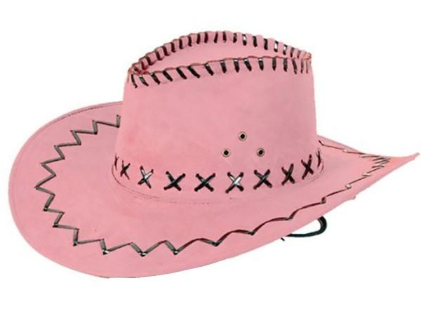 Cowboyhut Hut Pink Westernhut Western Kostüm Karneval Fasching Party (1 Stück)