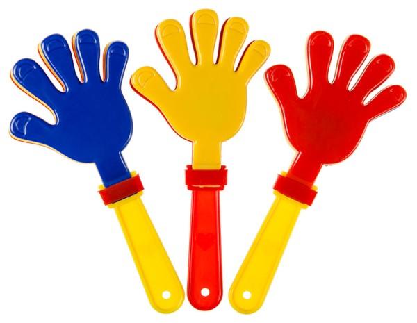 Klapperhände Handklatsche 15 cm Klapperhand Klatschhand Fanartikel Tombola