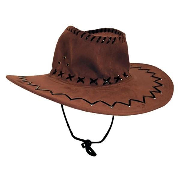 Cowboyhut Hut Dunkelbraun D Westernhut Western Kostüm Karneval Fasching (1 Stück)