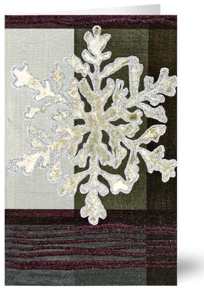 Weihnachtskarten Grußkarten Geprägter Eiskristell mit Glimmer und Leineneffekt plano vorgefalzt bedruckbar 250 g/m² inklusive Umschlägen mit Seidenfutter Mayspies 7805 (20 Stück)