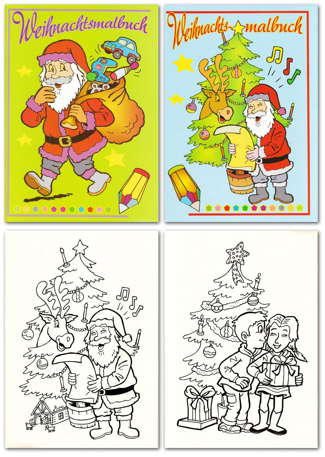 malbuch weihnachten, 2 motive, din a4 , 48 seiten (25