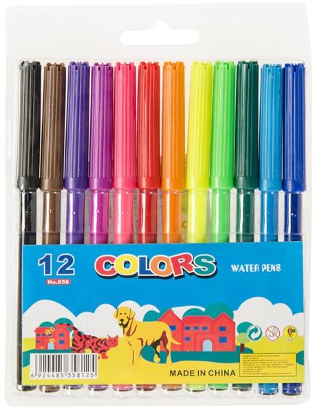 Filzstifte 16cm 12 Farben Stifte Büro Kinder Malen Stift Schule einfach