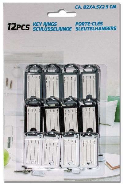Schlüsselanhänger Schlüsselschilder Anhänger Kunststoff Schlüsselringe