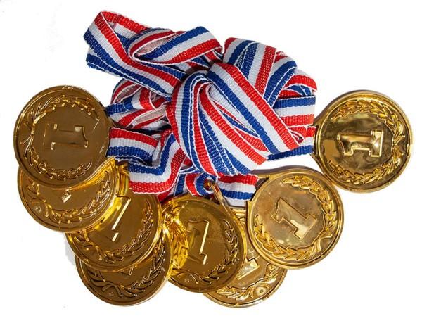 Medaillen Gewinnermedaille Siegermedaille für Champions aus Kunststoff
