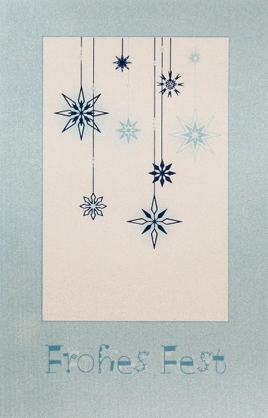 Weihnachtskarten Grußkarten Kristalle Perlmutteffekt plano vorgefalzt bedruckbar 200 g/m² inklusive Umschlägen mit Seidenfutter Mayspies 7679 (20 Stück)