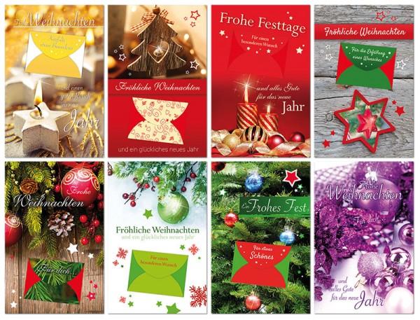 Weihnachtskarten Geldkarten Karten Grußkarten Weihnachten Neues Jahr