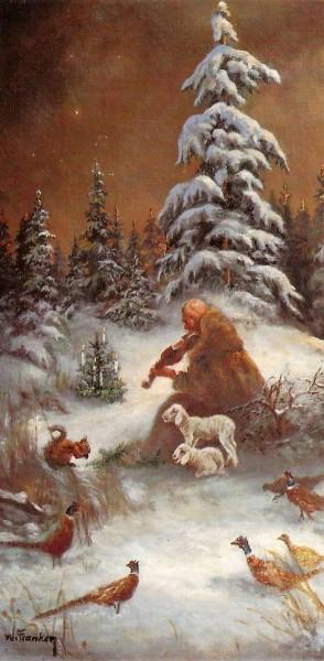 """Weihnachtskarten Grußkarten """"Hirte beim Geigenspiel"""" plano vorgefalzt bedruckbar inklusive Umschlägen Mayspies 7752 (20 Stück)"""