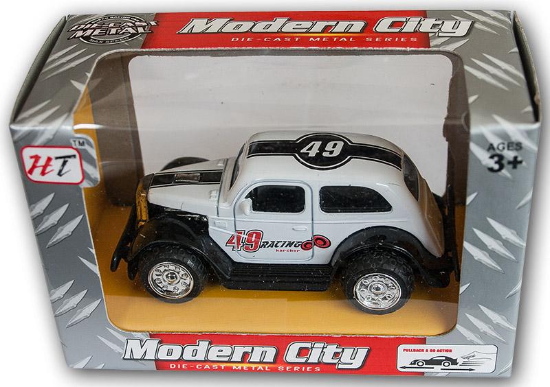 Die Cast Metal Oldtimer Rennwagen Auto 5 cm Friktionsantrieb A Spielzeug