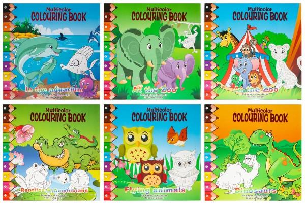 Malbücher Malen nach Zahlen 24 Seiten 6 Designs inkl.Stifte Malbuch für Kinder (6 Stück)