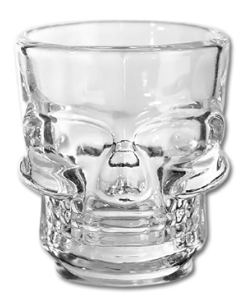 Schnapsgläser Totenkopf Halloween Schnapsglas Glas 4 cl Skull Totenschädel Schädel (2 Stück)
