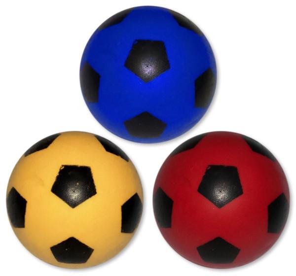 Fußball Flummis 3 Farbig Flummi Springball 43 mm  Ball Hüpfball Mitgebsel (4 Stück)