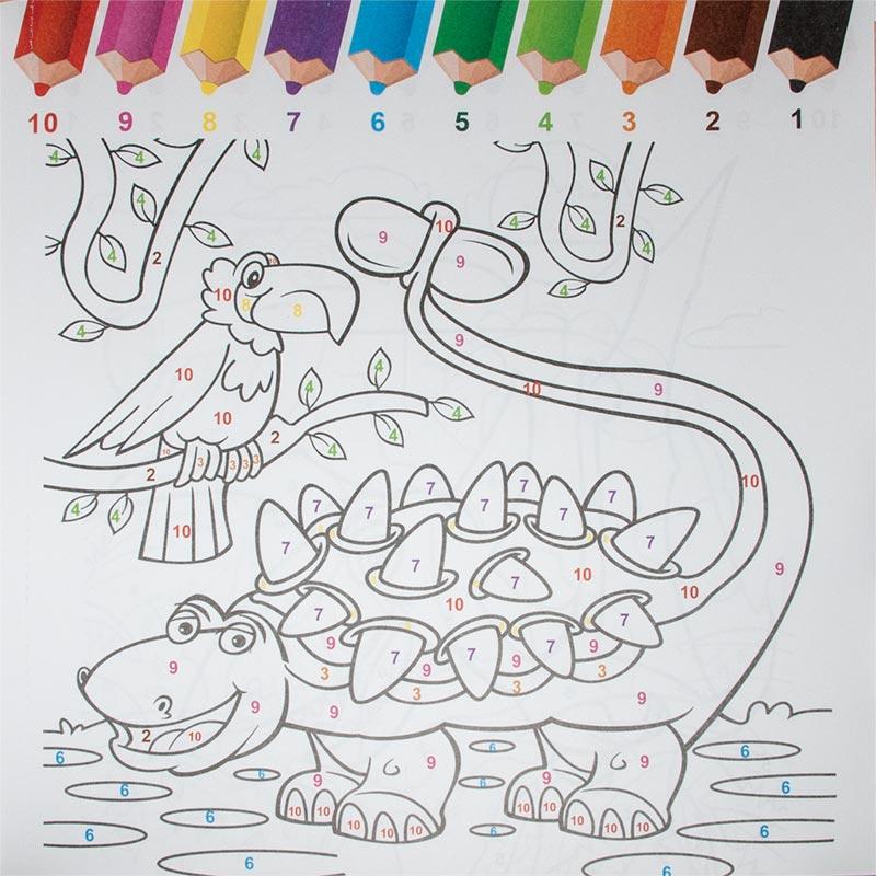 Malbücher Malen Nach Zahlen 24 Seiten 6 Designs Inklstifte Malbuch Für Kinder 6 Stück