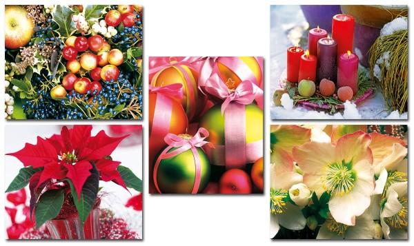 Mini Weihnachtskarten Klappkarten Grußkarte 7,0 x 9,0 cm S2 (30 Stück)