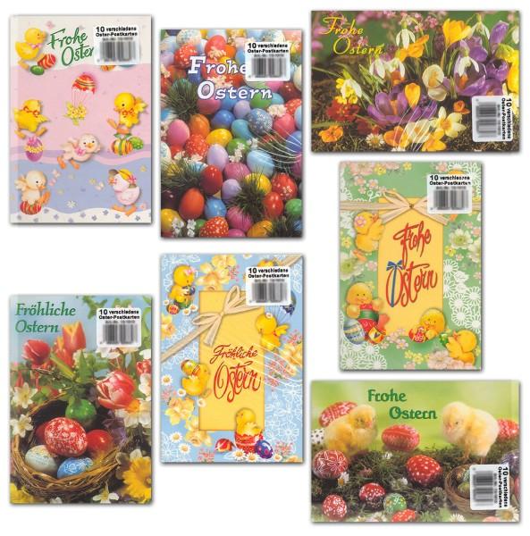 Oster-Postkarten diverse Motive Grußkarten Ostern 10 Sets à 10 Karten 13-1010 (100 Stück)