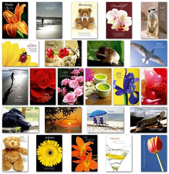 Grußkarten Grußkarte Impressions Sinnsprüche Glückwunschkarten Hüllen IMP S2-3 (24 Stück)