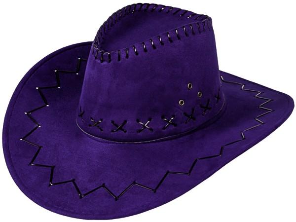 Cowboyhut Hut Lila Westernhut Western Kostüm Karneval Fasching Party (1 Stück)