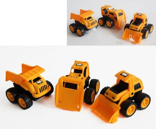 Baustellenfahrzeug 16 x 12 x 12 cm Bagger Schaufel Sand Strand Spielzeug