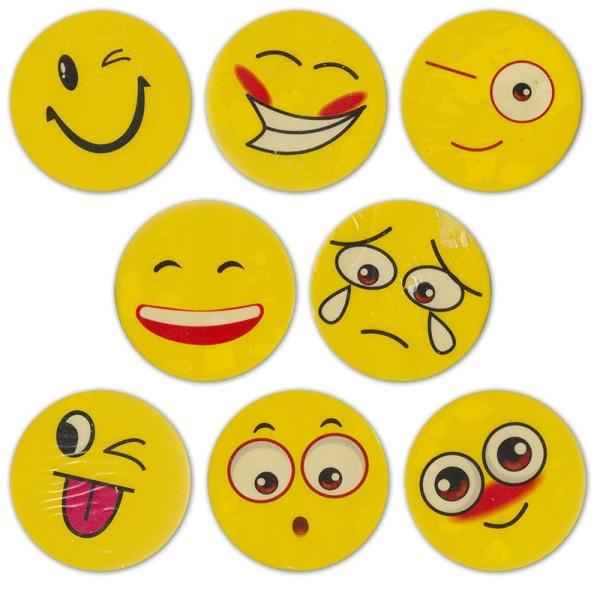 Radiergummi Radiergummis 4,5cm Smile Lachgesichter Büro Kinder Mitgebsel (6 Stück)