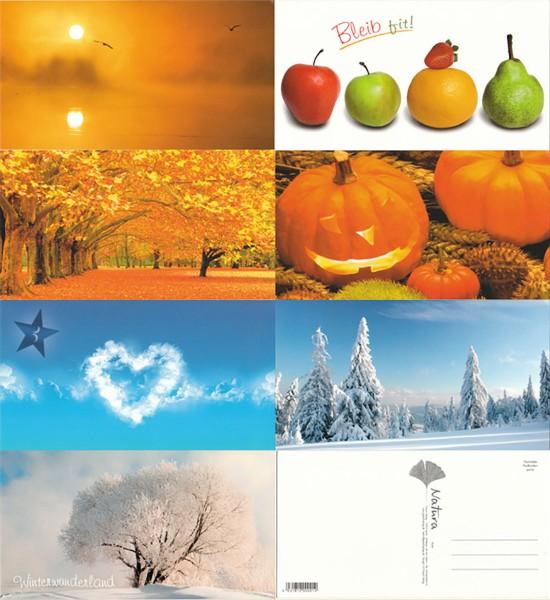 Grußkarten Postkarten 7 Motive Top Ware Sort. 9 (42 Stück)
