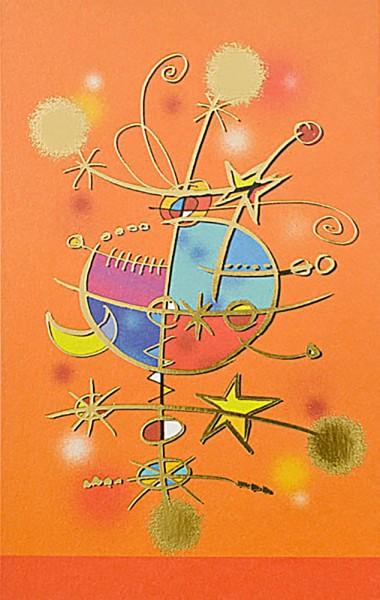 Weihnachtskarten bedruckbar Abstrakt mit Goldfolie und Perlmutteffekt geprägt plano vorgefalzt 300 g/m² Grußkarten inklusive Umschlägen mit Seidenfutter Mayspies 7761 (20 Stück)