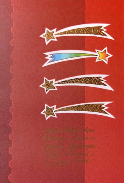 Weihnachtskarten bedruckbar international Sternenschweif plano vorgefalz 250 g/m² Grußkarten inklusive Umschlägen Mayspies 7670 (20 Stück)
