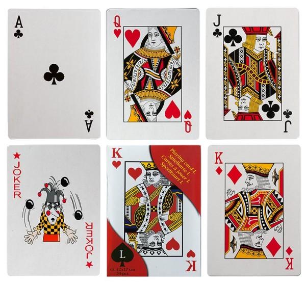 XXL Karten Kartenspiel 54 Blatt Mau Mau Doppelkopf Schafkopf Schwimmen Poker