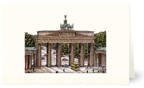 """Weihnachtskarten bedruckbar Städtekarten Berlin """"Brandenburger Tor"""" geprägt plano vorgefalzt 230 g/m² Grußkarten inklusive Umschlägen Mayspies 80151 A (20 Stück)"""