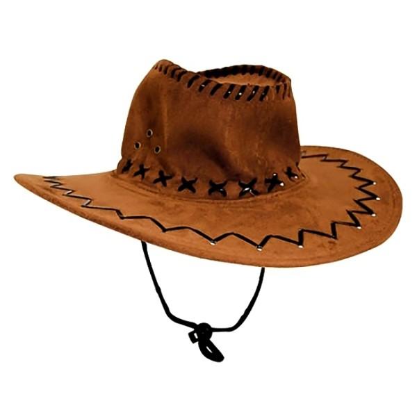 Cowboyhut Hut Hellbraun A Westernhut Western Kostüm Karneval Fasching Party (1 Stück)