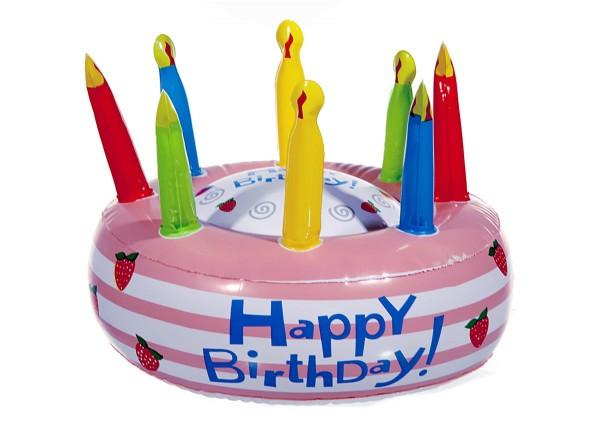 Aufblasbare Torte Geburtstagstorte Happy Birthday 26 cm Geburtstag Torte (1 Stück)