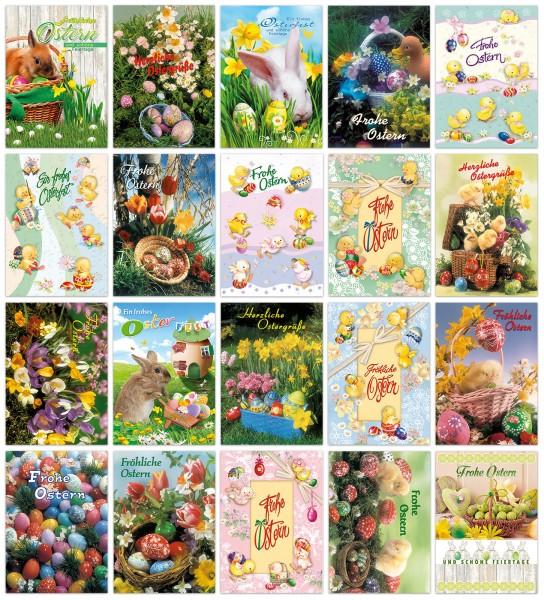 Oster-Postkarten diverse Motive Grußkarten Ostern 20 Sets à 5 Karten 13-1005 (100 Stück)