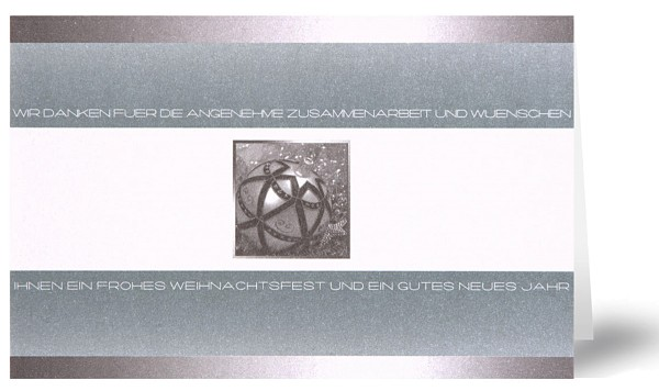 Weihnachtskarten Grußkarten Elegante Weihnachtsgrüße Gute Zusammenarbeit mit Perlmutteffekt plano vorgefalzt bedruckbar 290 g/m² inklusive Umschlägen mit Seidenfutter Mayspies 7875 (20 Stück)