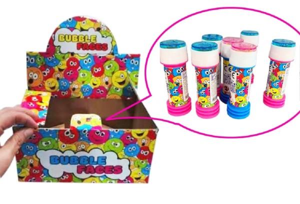 Seifenblasen mit Geduldspiel 25 ml Bursting Bubbles Mitgebsel Party Tombola (24 Stück)