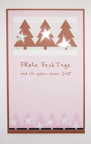 Weihnachtskarten bedruckbar 3 geprägte Sterne Silberfolie plano vorgefalzt 240 g/m² Grußkarten inklusive Umschlägen mit Seidenfutter Mayspies 7681 (20 Stück)