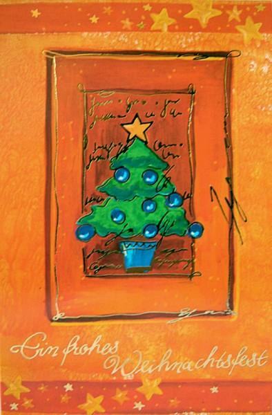 Weihnachtskarten bedruckbar Tannenbaum plano vorgefalzt 230 g/m² Grußkarten inklusive Umschlägen Mayspies 7577 (20 Stück)